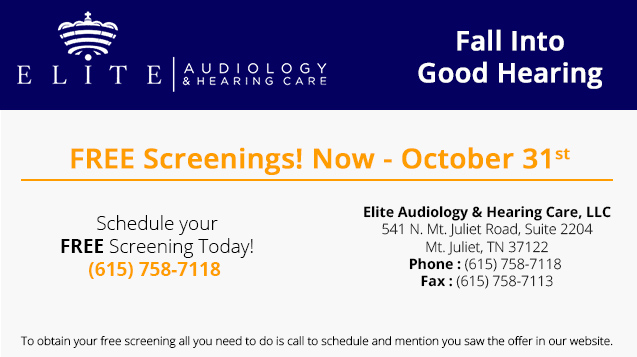 FREE Hearing Screening - Mt. Juliet, TN